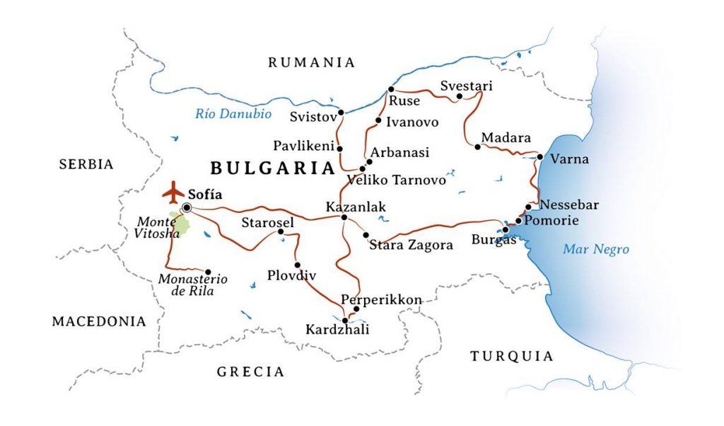 Itinerario Viaje Bulgaria Tracios